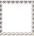 frame of flowers beautiful frame of pansies ready vector image vector image
