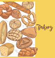 fresh bread hand drawn bakery design vector image vector image