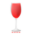 glass of wine icon color fill style vector image vector image