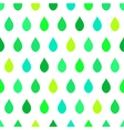 Green Tone Rain White Background vector image vector image
