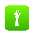 hand icon digital green vector image vector image