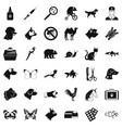 help for animal icons set simple style vector image vector image