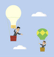 idea raises businessman vector image