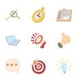Internet setup icons set cartoon style vector image vector image