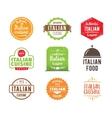 Italia cuisine label vector image vector image