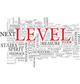 level word cloud concept vector image vector image