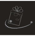 luxury label with gift box vector image vector image