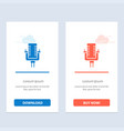 microphone multimedia record song blue and red vector image vector image