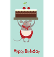 Mouse cooke with cake vector image
