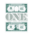 one heck a tribute to one dollar bill vector image vector image