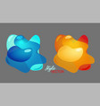 orange and blue 3d lliquid fluid abstract elements vector image
