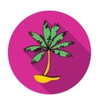 Palm tree icon in flat style isolated on white vector image vector image