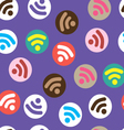 Pattern depicting characters Wi-Fi vector image vector image