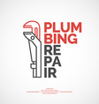Plumbing repair vector image vector image