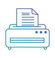 printer machine isolated icon vector image