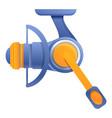 recreation fishing reel icon cartoon style vector image vector image