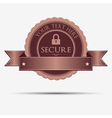 Retro secure badge and label vector image vector image