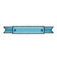ribbon frame decorative icon vector image