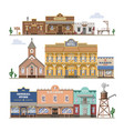 saloon wild west building and western vector image vector image