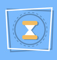 sand clock icon time watch concept vector image