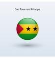 Sao Tome and Principe round flag vector image vector image