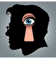Secret thoughts of espionage vector image