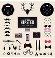 set vintage styled design hipster icons vector image vector image