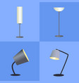 shining lamps collection vector image