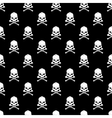 skull and bones seamless background vector image vector image