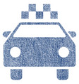 taxi automobile fabric textured icon vector image vector image