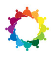 teamwork social group people icon vector image vector image