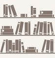tile pattern with books on shelf vector image vector image