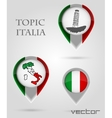 Topic ITALIA Map Marker vector image vector image