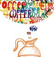 Vintage cute coffee social concept vector image vector image