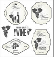 wine retro vintage labels collection vector image vector image
