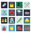 Winter sport icons set vector image vector image