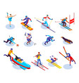 winter sports isometric icons set vector image