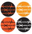 symbol barbed wire vector image
