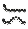 Caterpillar Icon Set on White Background vector image