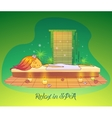 Girl or woman relaxing lying at spa salon vector image