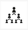 pyramid scheme icon in simple black design vector image