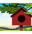 A birdhouse vector image