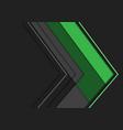 abstract green grey arrow polygon direction vector image vector image