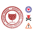 alcohol danger trends seal with grungy surface vector image vector image