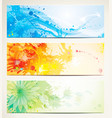 artistic banners vector image vector image
