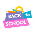 back to school banner with colorful title and vector image