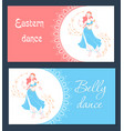 belly dance day banner vector image vector image