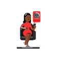 black woman personal information vector image