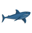 blue shark icon cartoon style vector image