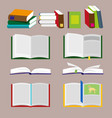 books icons and library icons with brown vector image